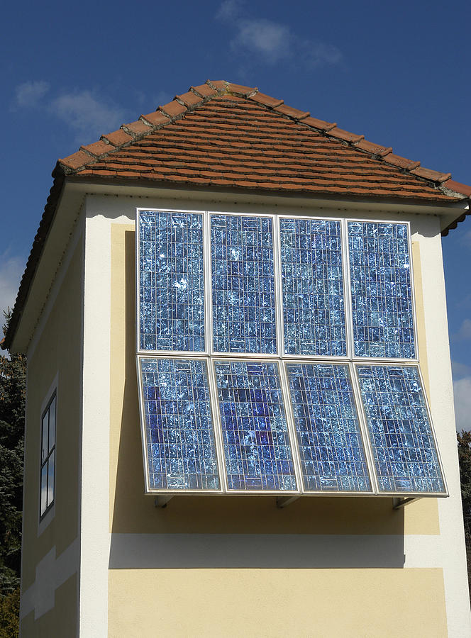 Building Photograph - Domestic Solar Panel by Friedrich Saurer
