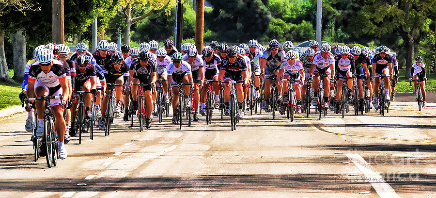 Cycle Race Photograph - Dominguez Hill Cycle Race by Clare VanderVeen