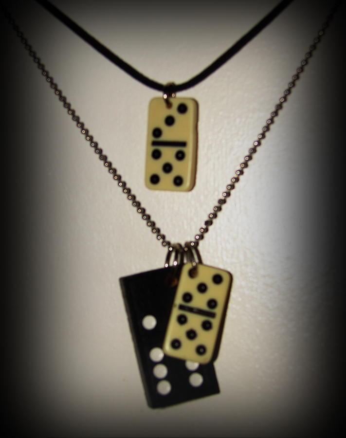 Jamaica Art Jewelry - Dominoe Tile Pendants by K Walker