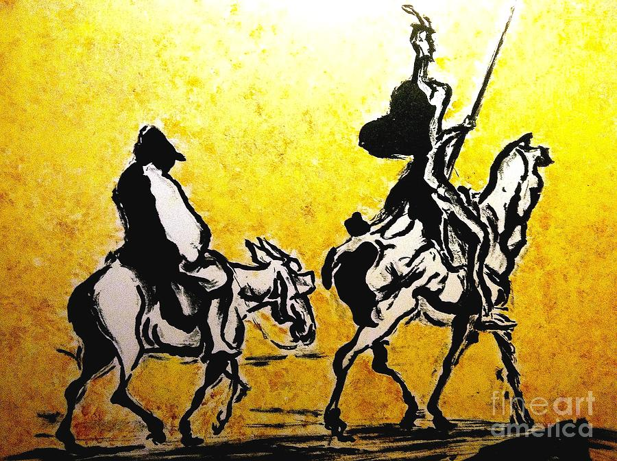Don Quixote Painting by Carlos Rodas