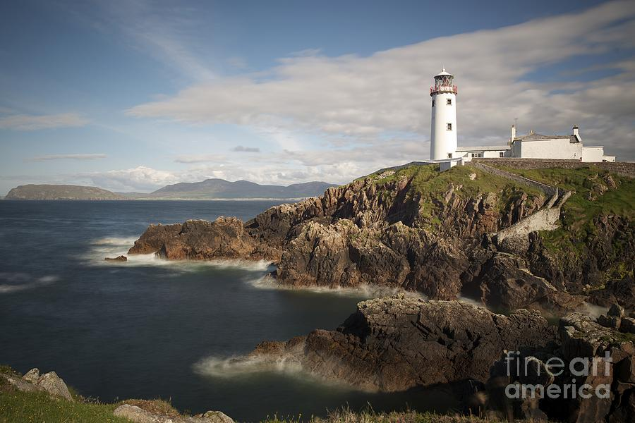 Irish Photograph - Donegal Lighthouse by Andrew  Michael