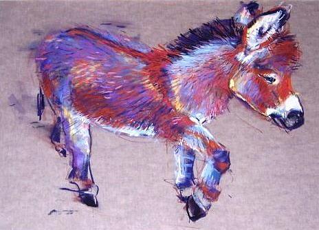 Donkey Pastel - Donkey by Barbara Richert