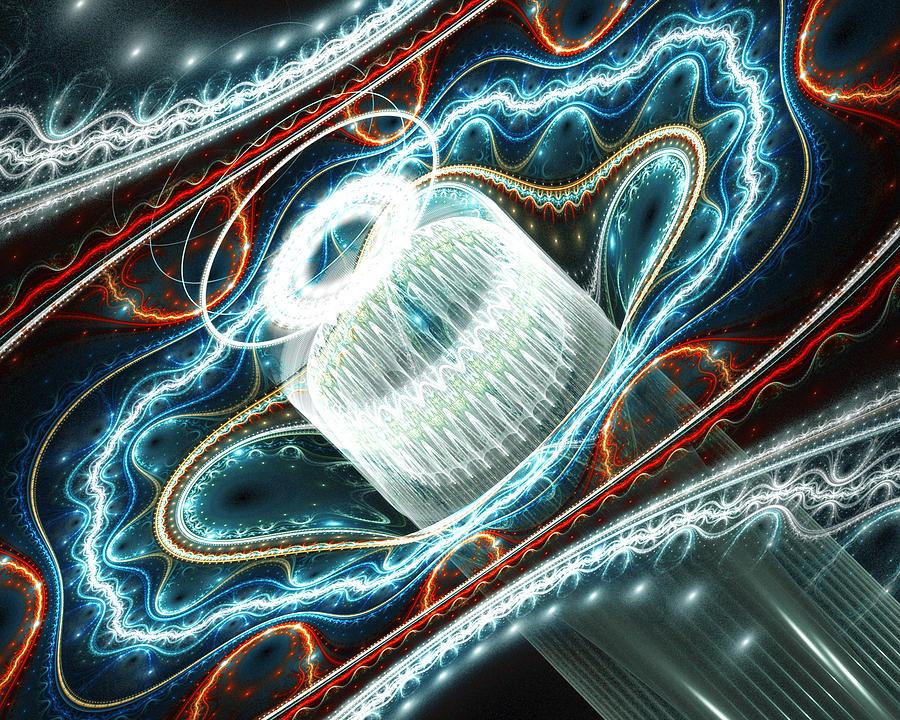 Fractal Digital Art - Dont Exhale Th Edit by Drake Lock