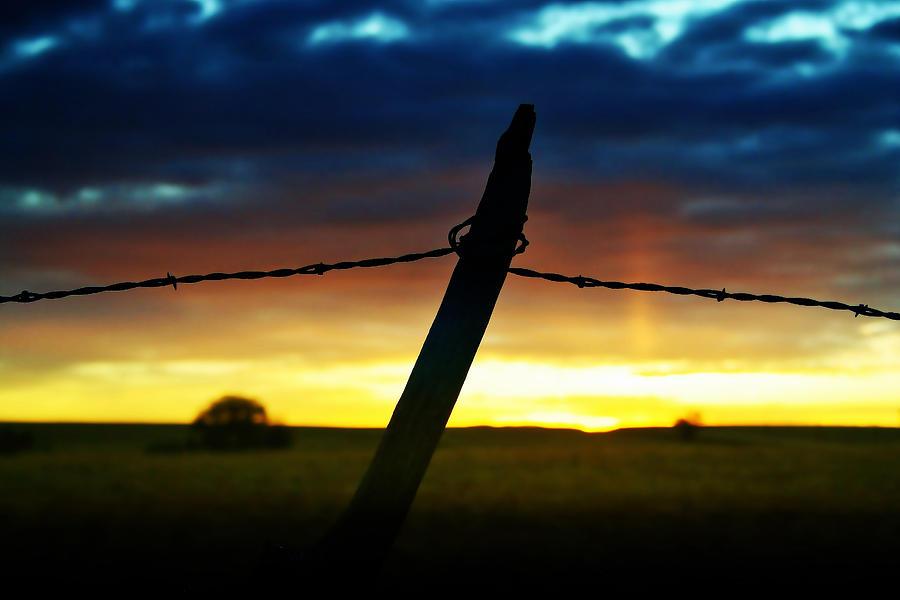 Sunrise Photograph - Dont Fence Me In by Ellen Heaverlo