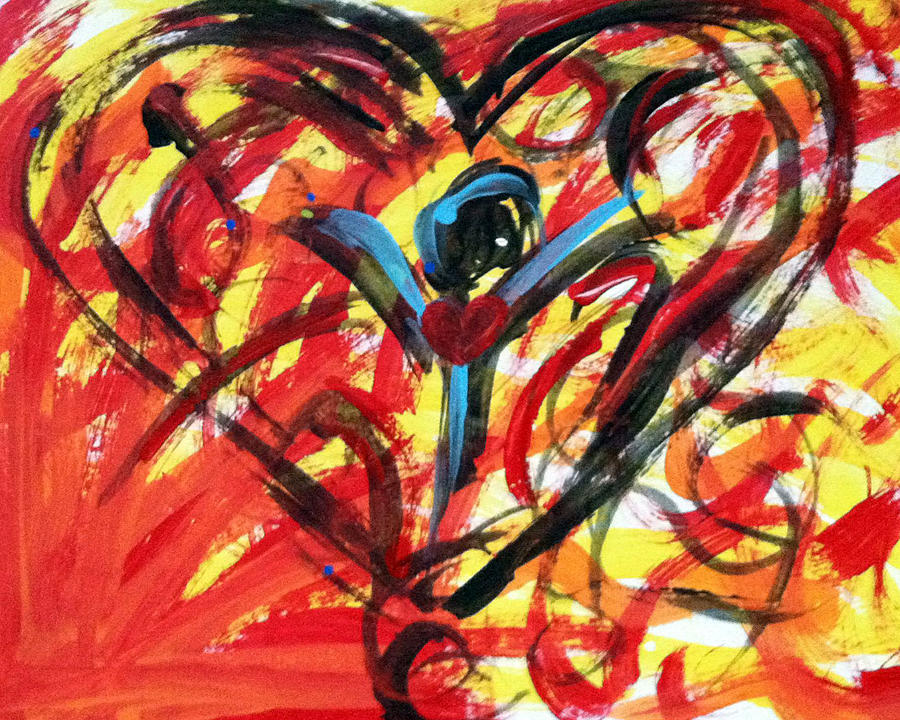 Heart Painting - Dont Give Up by Bethany Stanko