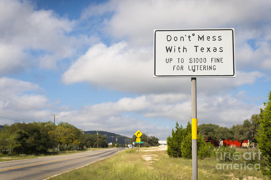 Road Photograph - Dont mess with Texas by Andre Babiak