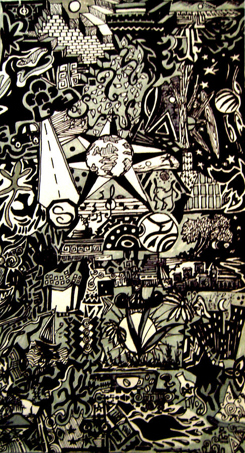 Sun Photograph - Doodles Black And White by MikAn sArt