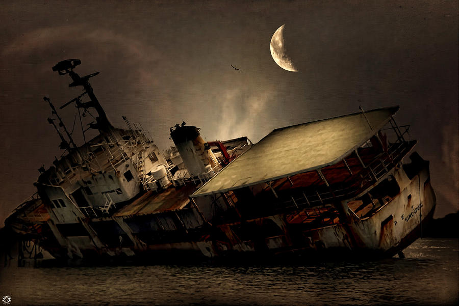 Ship Photograph - Doomed To Gloom by Lourry Legarde