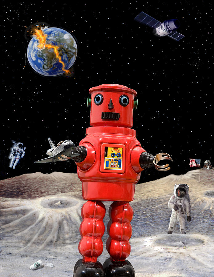 Robot Photograph - Doomsday Escape by L S Keely