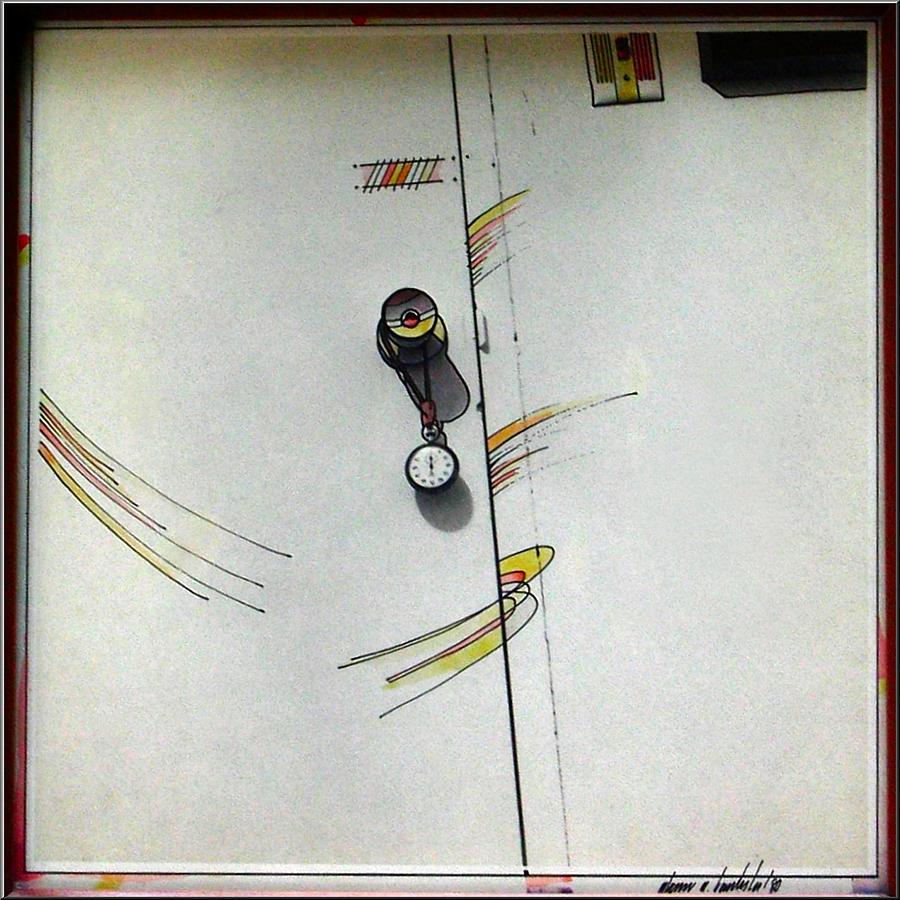Slam Mixed Media - Door 1980 by Glenn Bautista