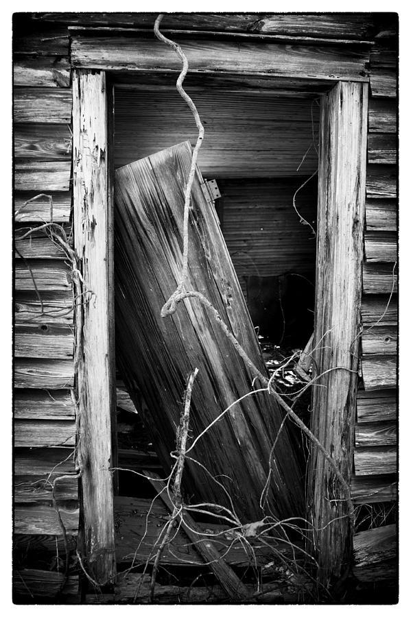 Rockingham County Photograph - Door Bw by Mark Wagoner