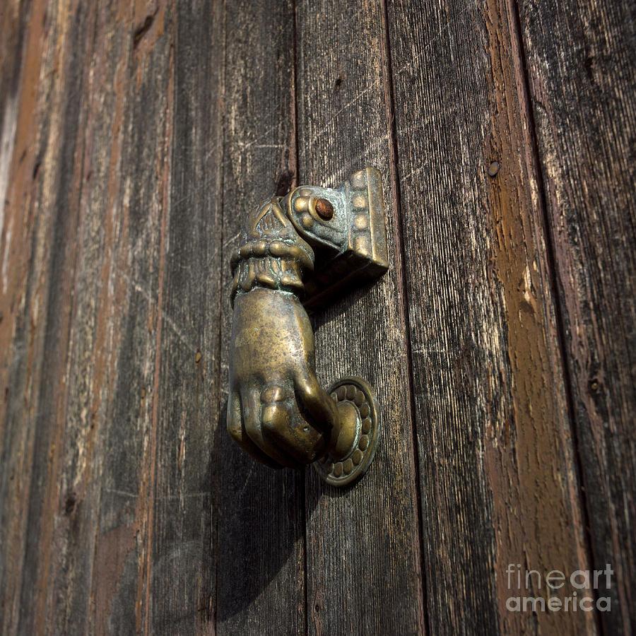 Wooden Photograph   Door Handle In The Shape Of A Hand By Bernard Jaubert