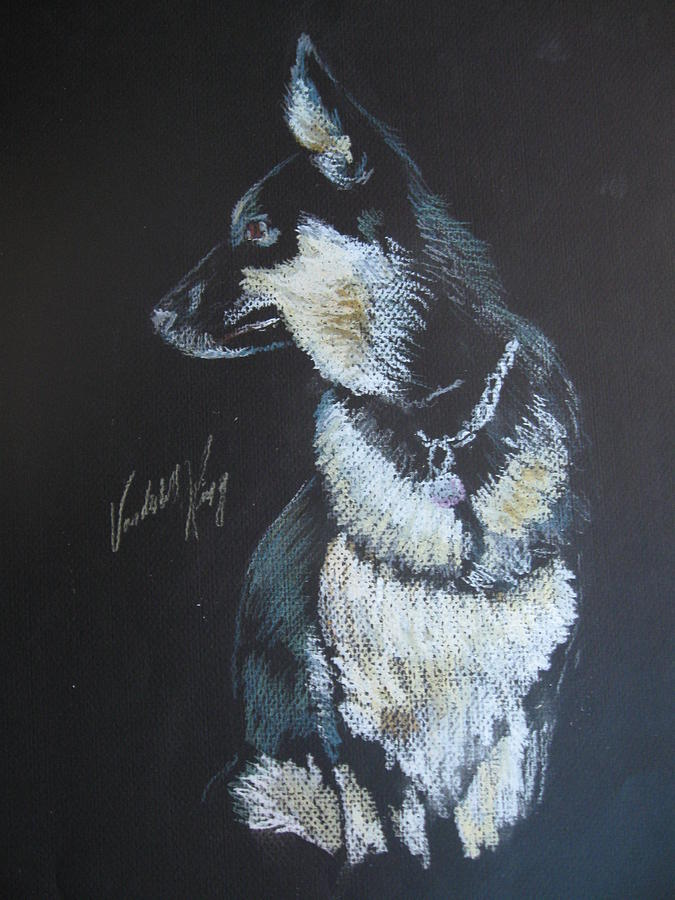Dog Pastel - Dora by Vanderbill King