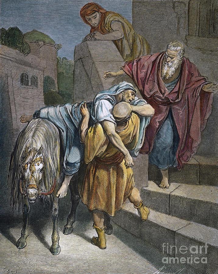 19th Century Photograph - Dore: Good Samaritan by Granger