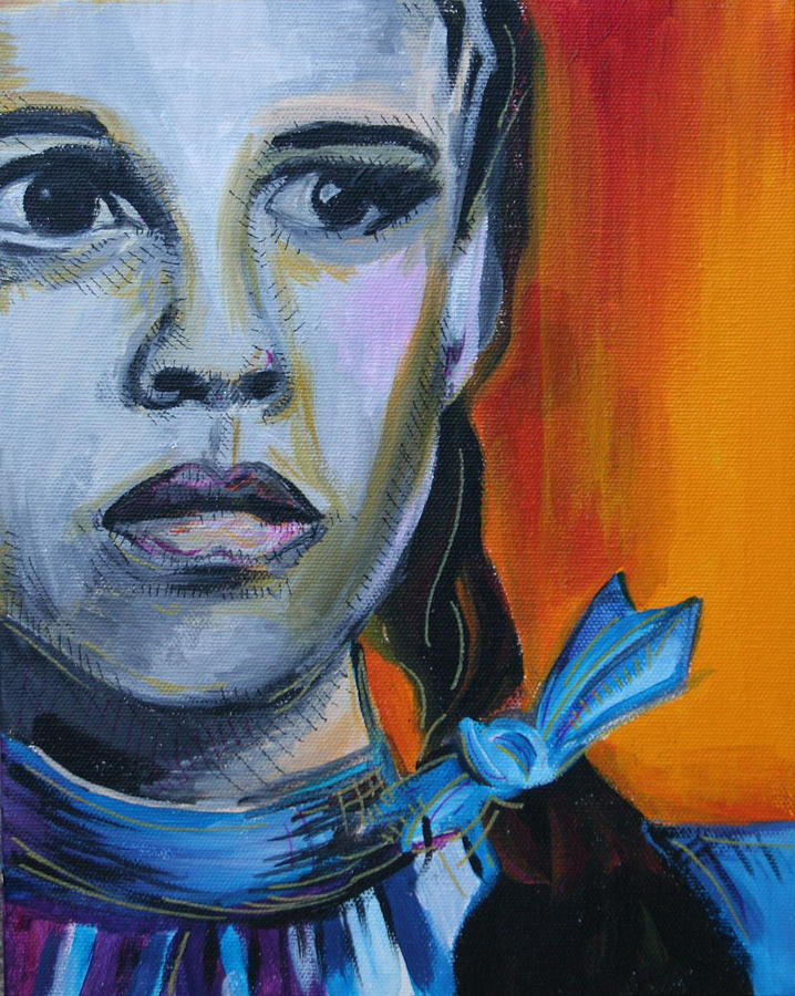 Wizard Of Oz Painting - Dorothy by Kate Fortin