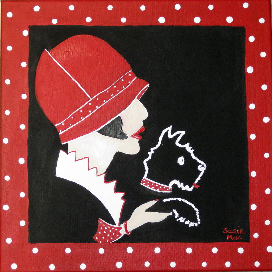 Dog Painting - Dottie With The Scottie 1 by Susan McLean Gray