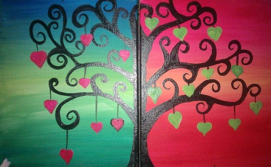 Double Canvas Painting By Jessie Preschers