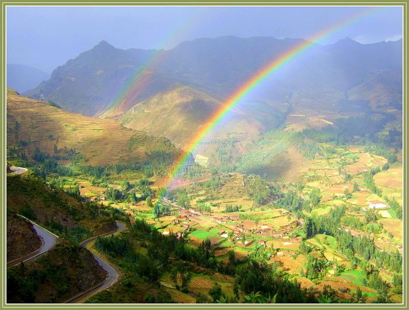 Mountains Photograph - Double Rainbow by Satya Winkelman