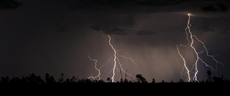 Lightning Photograph - Double Time by Ren Alber