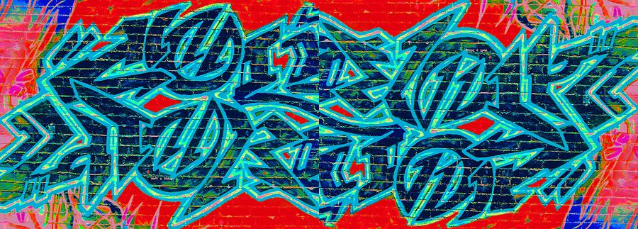 Graffiti Digital Art - Double Trouble 2 by Randall Weidner