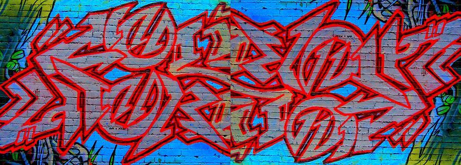 Graffiti Digital Art - Double Trouble by Randall Weidner