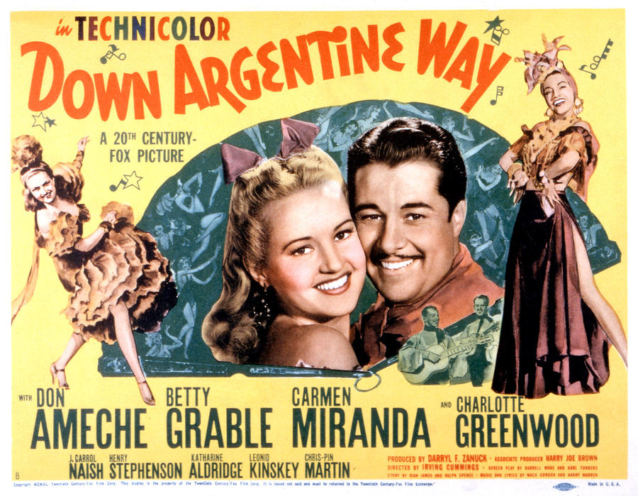 1940 Movies Photograph - Down Argentine Way, Betty Grable, Don by Everett