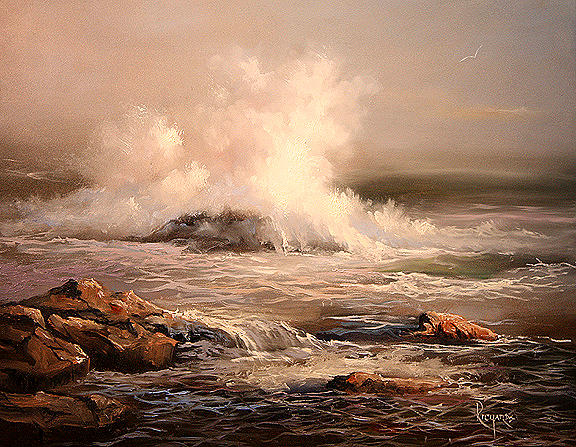 Seascape Painting - Down East by John Richards