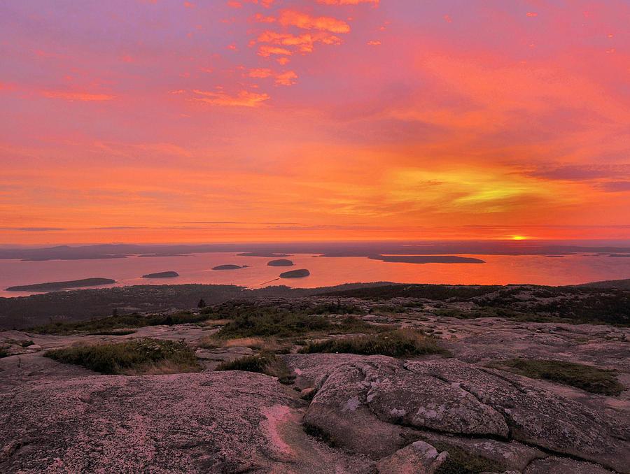 Sunrise Photograph - Down East Sunrise by Stephen  Vecchiotti