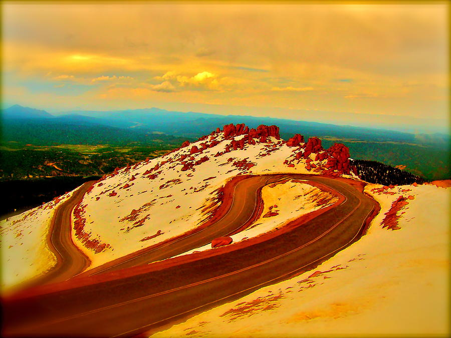 Landscape Photograph - Down The Mountain by Amber Hennessey