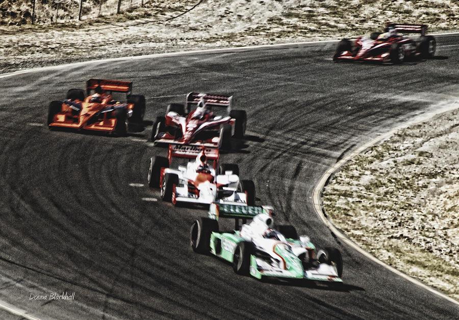 Car Photograph - Down The Raceway by Donna Blackhall