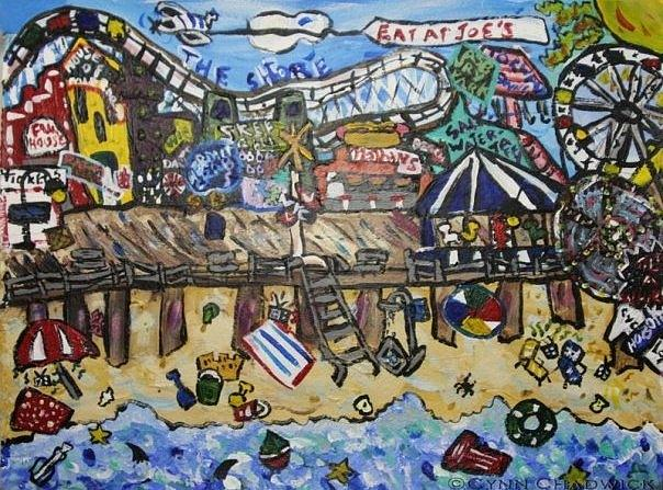 Arcades Painting - Down The Shore Ll by Cynn Chadwick