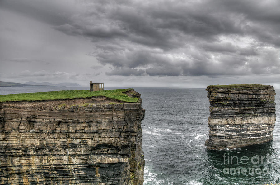 Mayo Photograph - Downpatrick Head Lookout Tower by Marion Galt