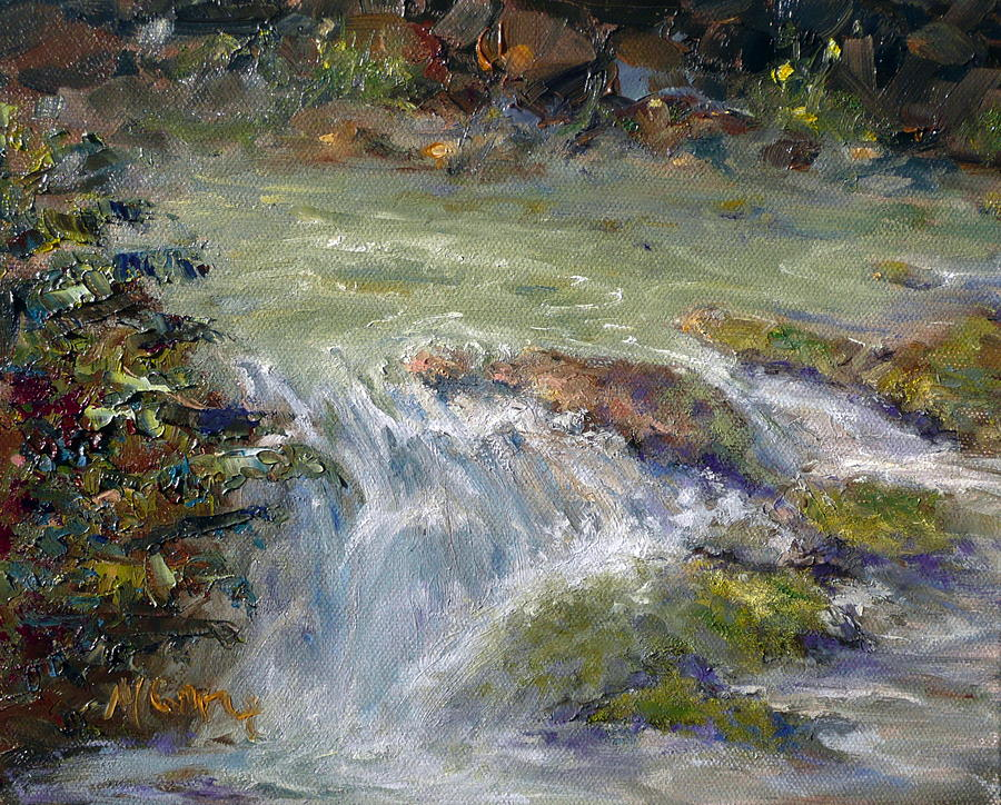 Water Painting - Downstream by Marie Green