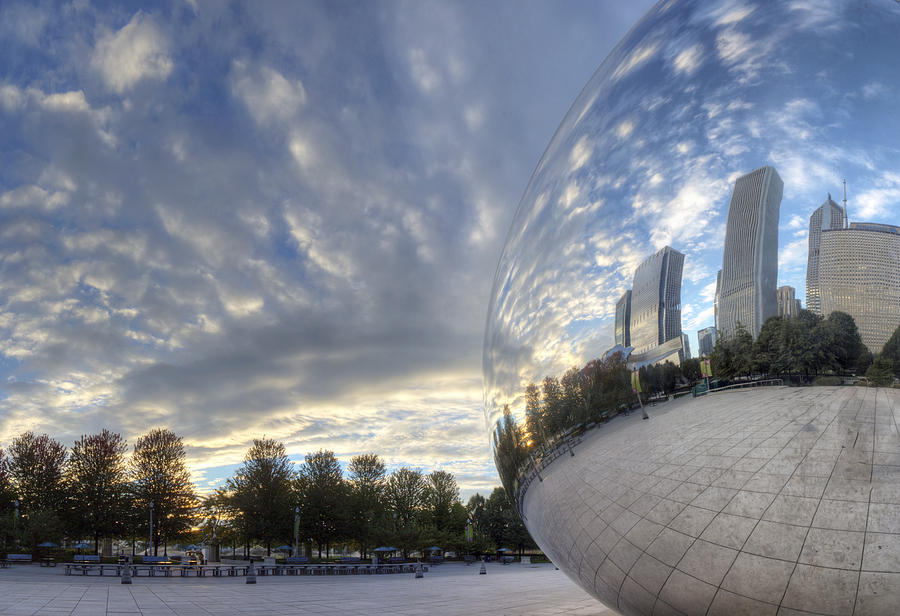 Chicago Photograph - Downtown Chicago At Dawn by Twenty Two North Photography