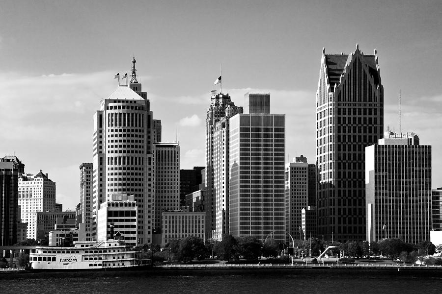 Michigan Photograph - Downtown Detroit by James Marvin Phelps