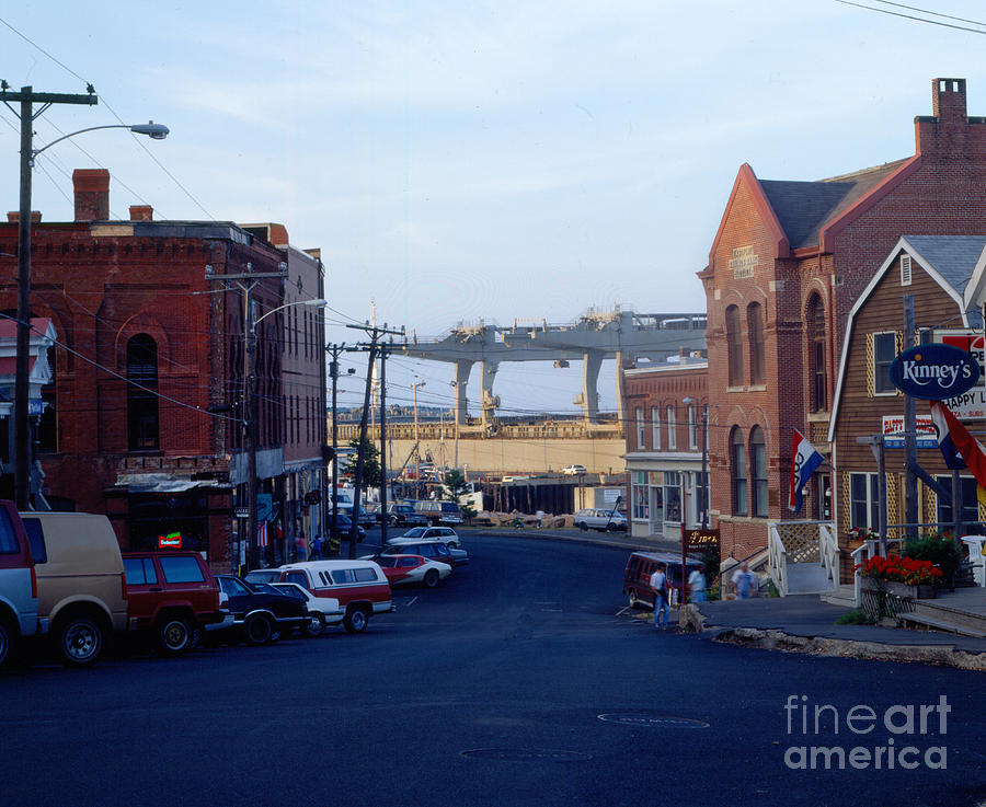 Eastport Photograph - Downtown Eastport Maine by Geri Harkin-Tuckett