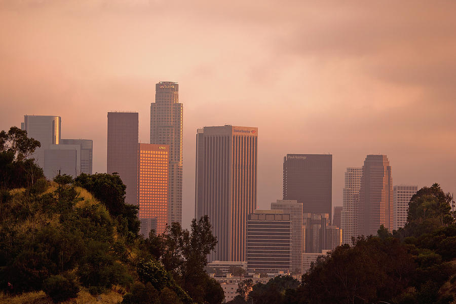 Horizontal Photograph - Downtown Los Angeles by Andrew Kennelly