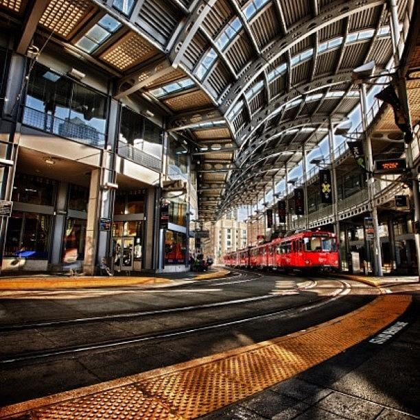 Downtown San Diego Trolley Station Photograph by Larry Marshall