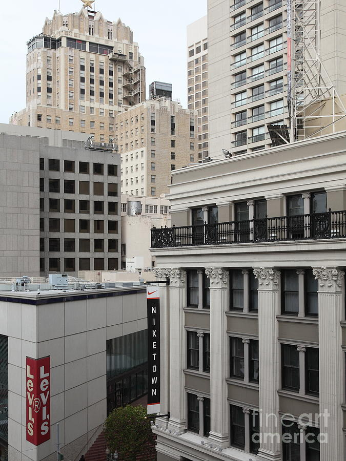 San Francisco Photograph - Downtown San Francisco Buildings - 5d19323 by Wingsdomain Art and Photography