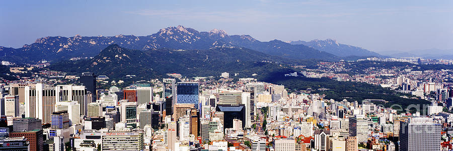 Apartment Photograph - Downtown Seoul Skyline by Jeremy Woodhouse