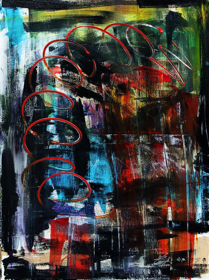 Downwards Painting by Terrance Prysiazniuk