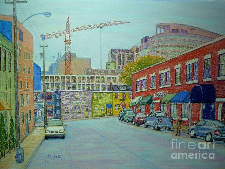Pastels Pastel - Doyle Street Halifax by Rae  Smith PSC
