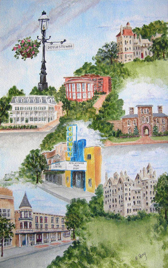 Doylestown Collage by Margie Perry