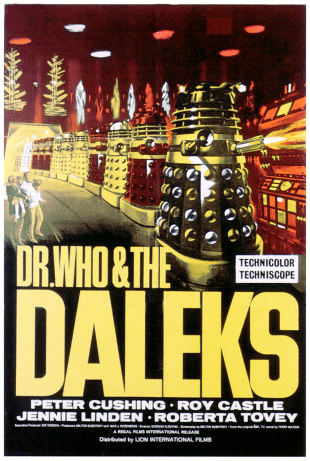 1965 Movies Photograph - Dr. Who And The Daleks, 1965 by Everett