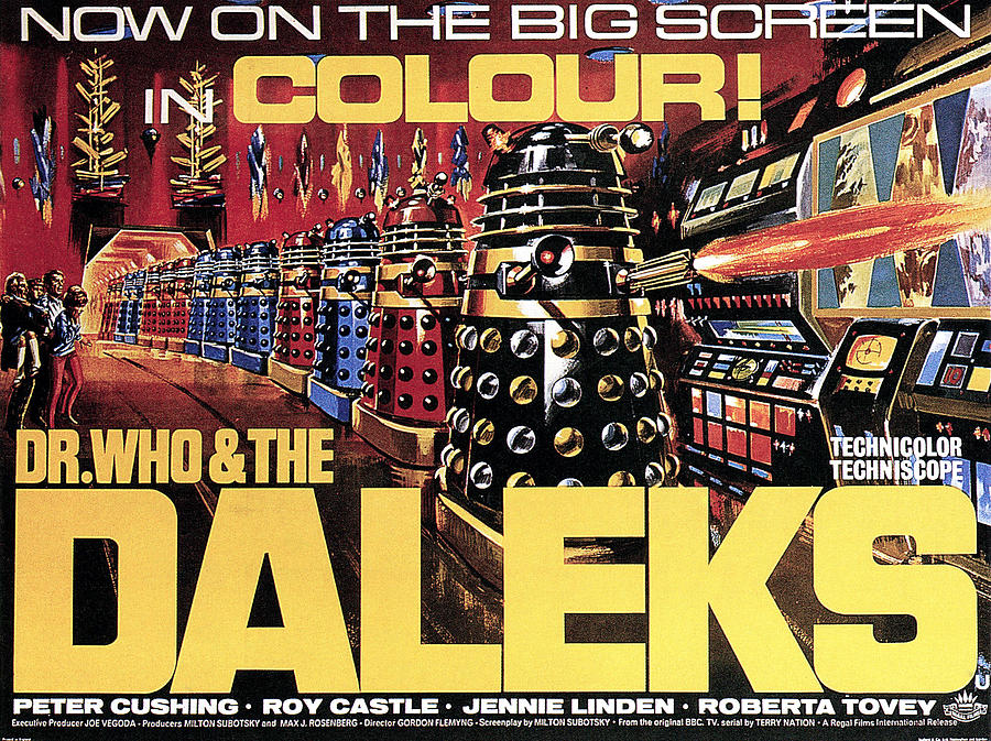 1965 Movies Photograph - Dr. Who And The Daleks, Poster, 1965 by Everett