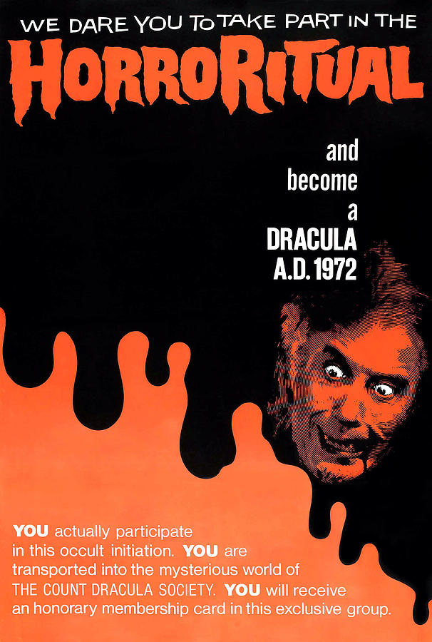 1970s Poster Art Photograph - Dracula A.d. 1972, Lower Right by Everett