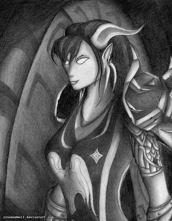 Draenei Hunter Mixed Media by Nathan Johnson
