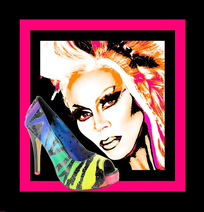 Drag Mixed Media - Drag And Stilettos by Samuel Veta
