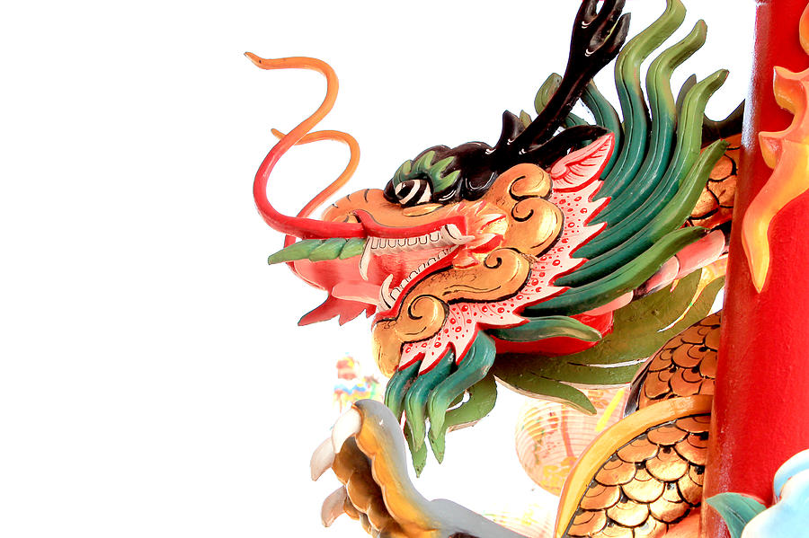 Ancient Sculpture - Dragon by Panyanon Hankhampa