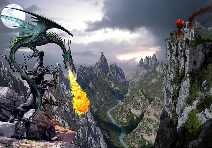 Dragon Photograph - Dragon Valley by MGL Meiklejohn Graphics Licensing